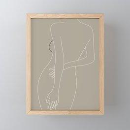 Minimal Line Art Woman Figure III Framed Mini Art Print