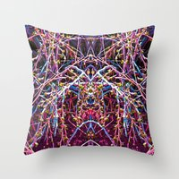 baphomet Throw Pillows featuring Baphomet 1 by Kevin Kolstad