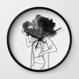Breathing your soul. Wall Clock