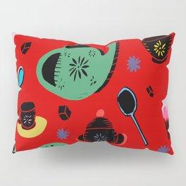 tea on red Pillow Sham