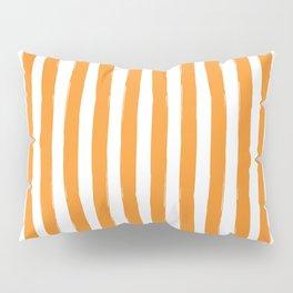 Orange and White Cabana Stripes Palm Beach Preppy Pillow Sham
