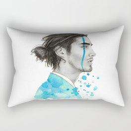 Man Bun Tears Rectangular Pillow