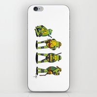teenage mutant ninja turtles iPhone & iPod Skins featuring Teenage mutant ninja turtles by Nioko
