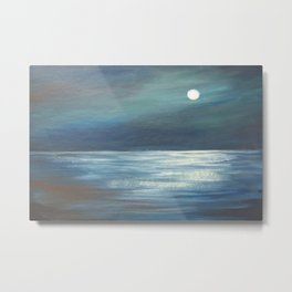 A Walk in the Moonlight AC151201-12 Metal Print