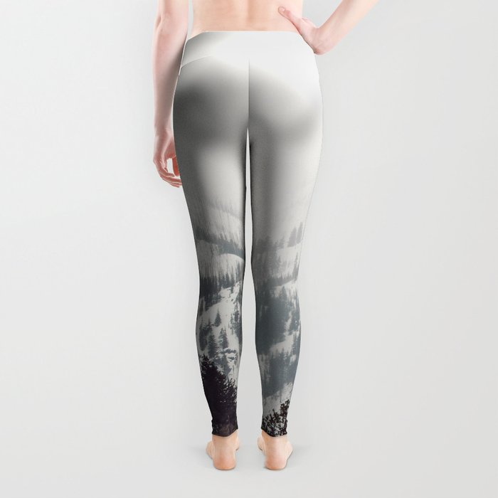 Storm in the Mountain Forest - Nature Photography Leggings