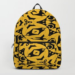 Black and Gold Kaleidoscope 2613 Backpack