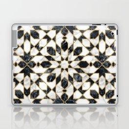 Black and white marble Moroccan mosaic Laptop & iPad Skin
