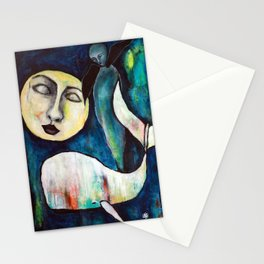 Whale & the Moon Stationery Cards