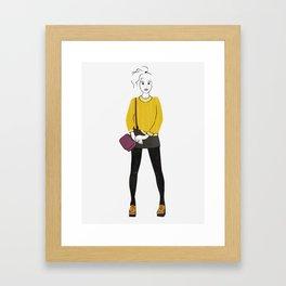 Pilled (Yellow) Sweater Framed Art Print