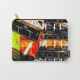 psychedelic Mini Cooper orange sport car abstract background Carry-All Pouch
