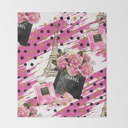Fashion Paris #1 Throw Blanket