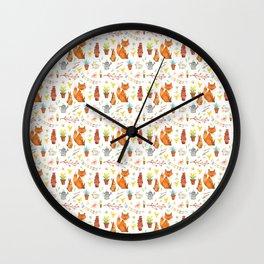 Easter Pattern Wall Clock