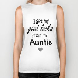 I get my good looks from my Auntie Baby Grow Bodysuit Vest Funny Babygrow aunt t-shirts Biker Tank