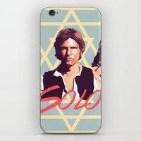 han solo iPhone & iPod Skins featuring Han Solo by Cesar Carlevarino
