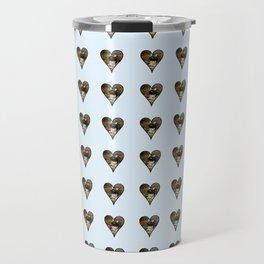 cute kitten in a heart 1-  Leon Huber - A basket full of cat Travel Mug