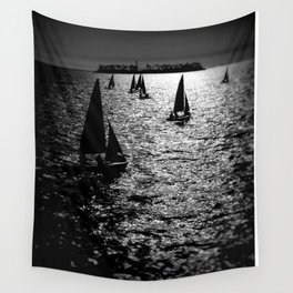 Sailing Silhouettes Wall Tapestry