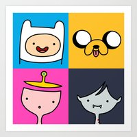 finn and jake Art Prints featuring Finn & Jake by fungopolly