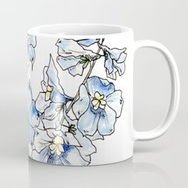 Blue Delphinium Flowers Coffee Mug