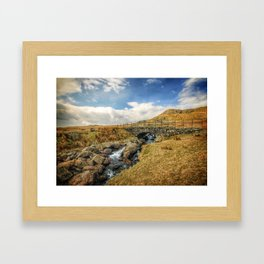 Up in the Lakes Framed Art Print
