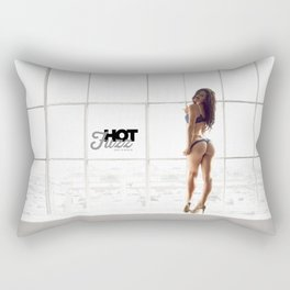 MOVEMBER Mustache BABE from Hot Fuzz Babes in Mustache Rectangular Pillow