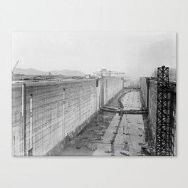 Panama Canal construction Canvas Print