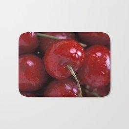 Big Red Cherries  Bath Mat