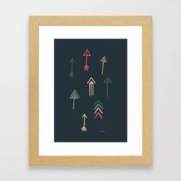 Arrow Sketch Framed Art Print