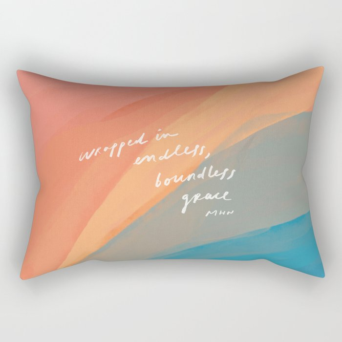 wrapped in endless, boundless grace Rectangular Pillow