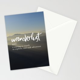 Wanderlust Definition - Misty Mountains Stationery Cards