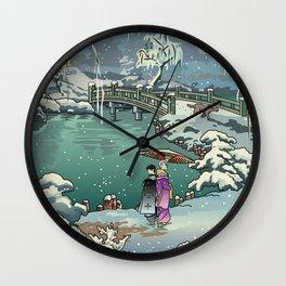 Ukiyo-e: Yuri on Ice Wall Clock