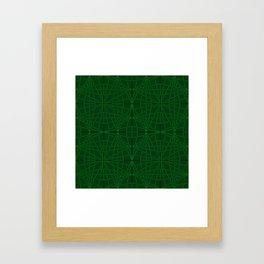 ELEGANT GREENERY GEOMETRICAL DIAMONDS Framed Art Print
