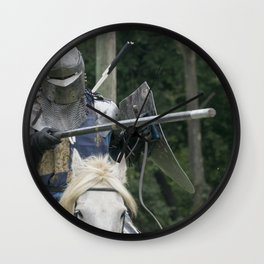 Lance Raised Avenged Wall Clock