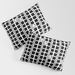 Into the Woods Leaves black Pillow Sham