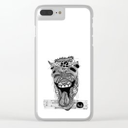 Mad Horse Clear iPhone Case