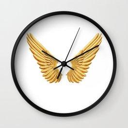 Gold wings Wall Clock