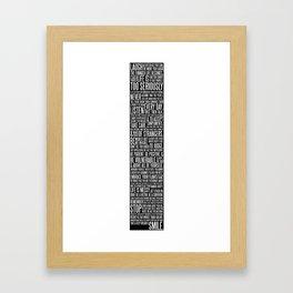 The AMS Manifesto - Black Framed Art Print