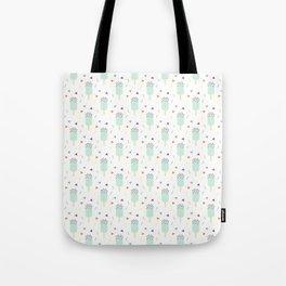 Summer sweet pastel teal ice cream geometrical pattern Tote Bag