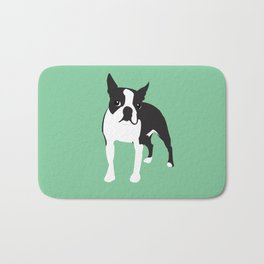 BOSTON TERRIER - Green Bath Mat