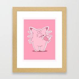 Clefable Milkshake Framed Art Print