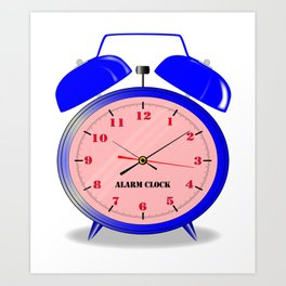 Oval Alarm Clock Art Print