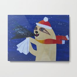 Sloth with a cough Metal Print