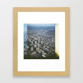 Indianapolis Skyline Framed Art Print