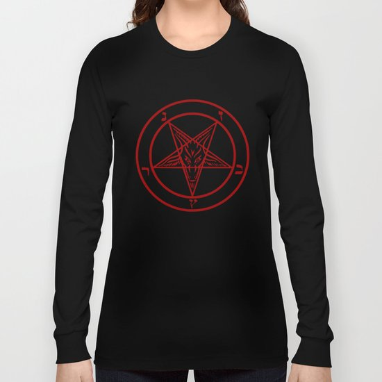 Ave Satanas (Red) Long Sleeve T-shirt