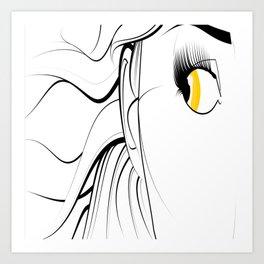 Golden Eyed Girl Art Print