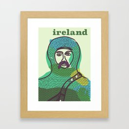 Ireland vintage travel poster print Framed Art Print