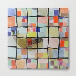 whale in reassembled color squares Metal Print