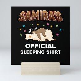 Samira Name Gift Sleeping Shirt Sleep Napping Mini Art Print
