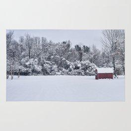 Snowy Day, Bennington VT Rug