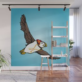 Puffin Wearing A Hat Wall Mural