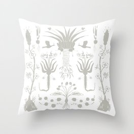 Abundance in Black Throw Pillow